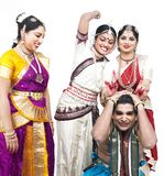 Indian classical dancers Stock Photo