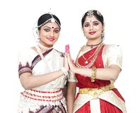 Indian classical dancers Stock Photos