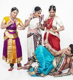 Indian classical dancers having Stock Images