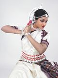 Indian classical female dancer Royalty Free Stock Photography