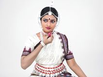 Indian classical female dancer Stock Image