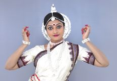 Indian classical female dancer Stock Photos