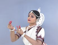 An indian classical female dancer Royalty Free Stock Photography