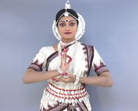 Indian classical female dancer Royalty Free Stock Images