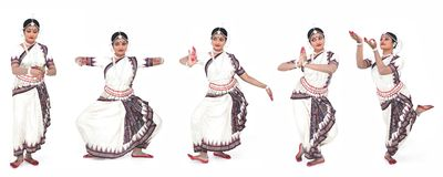 Indian classical female dancer Royalty Free Stock Image