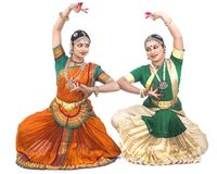Indian classical female dancers Stock Photo