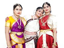 Indian classical female dancers Royalty Free Stock Photos