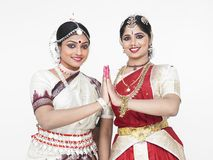 Indian classical female dancers Royalty Free Stock Photography