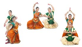 Indian classical female dancers Royalty Free Stock Image