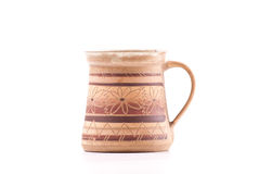 Indian Clay Crafted Coffee Cup Stock Photo