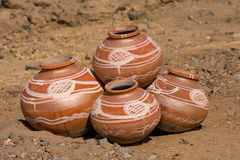 Indian clay pot Royalty Free Stock Photography