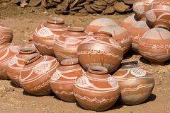 Indian clay pot Stock Image