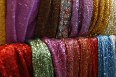 Indian clothes Market Stock Photo