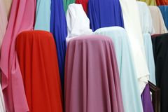 Indian clothes Market Royalty Free Stock Images