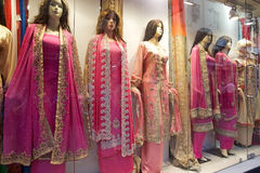 Indian clothes for sale near the New Market, Kolkata, India Royalty Free Stock Photo