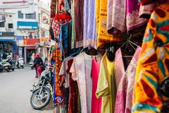 Indian clothes shop in Udaipur, India. Indian style clothes shop in Udaipur, India stock images