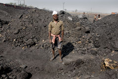 Indian Coal Worker Royalty Free Stock Photography