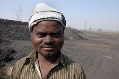 Indian Coal Worker Royalty Free Stock Images