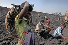 Indian Coal Worker Stock Photo