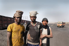 Indian Coal Worker Royalty Free Stock Image