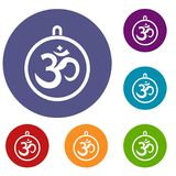 Indian coin icons set Royalty Free Stock Photo