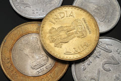 Indian Coins Close Up Stock Image