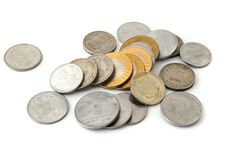 Indian coins. Indian currency coins. See my other works in portfolio Stock Images
