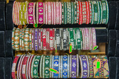 Indian collection of bangles Royalty Free Stock Photo