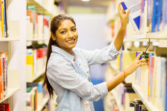 Indian college student library Royalty Free Stock Photo