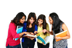 Indian college students group. Royalty Free Stock Photos