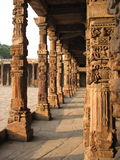 Indian colonnade Royalty Free Stock Image