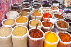 Indian colored powder spices Stock Photos