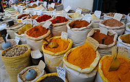 Indian colored powder spices Stock Images