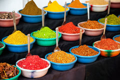 Indian colored spices Royalty Free Stock Images