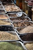 Indian colored spices at local market. Royalty Free Stock Image