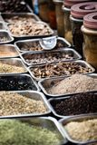 Indian colored spices at local market. Royalty Free Stock Images