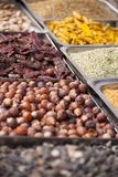 Indian colored spices at local market in Goa, India Stock Photography
