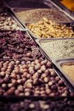 Indian colored spices at local market in Goa, India Royalty Free Stock Image