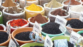 Indian colored spices stock video