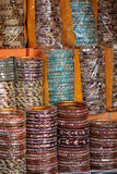 Indian colorful bracelets display Royalty Free Stock Images