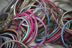 Indian colorful bracelets Royalty Free Stock Photos