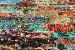 Indian colorful handcrafts necklages Royalty Free Stock Photos