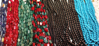 Indian colorful pearls necklaces Royalty Free Stock Photos