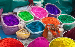 Indian colorful powders Stock Photos