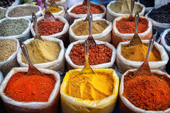 Indian colorful spices Stock Photos