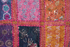 Indian colorfull fabric Royalty Free Stock Photo