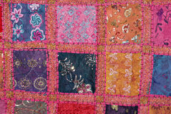 Indian colorfull fabric Royalty Free Stock Image