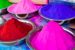 Indian coloured powders Stock Image