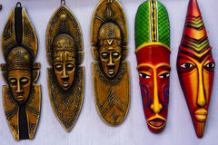 Indian colourful tribal mask Royalty Free Stock Images