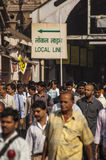 Indian commuters in the morning near Victoria Terminus Royalty Free Stock Photography